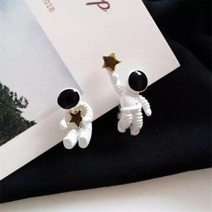 Astronaut Themed Stud Earrings New